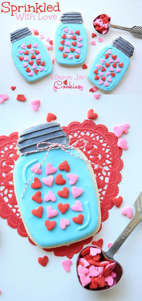 Sprinkled With Love Mason Jar Cookies Tutorial