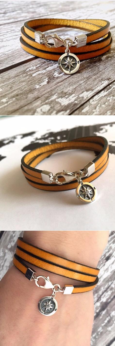 Sterling Silver Compass Bracelet