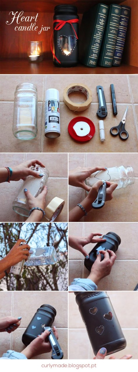 Valentines Day Candle Jar Tutorial