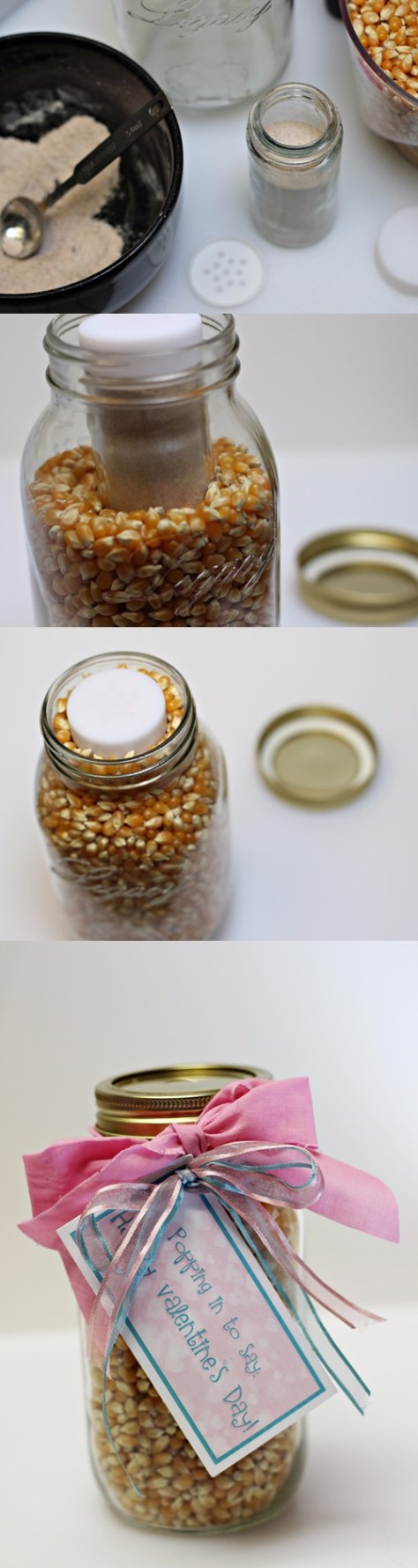 Valentines Gift Popcorn In A Jar Tutorial