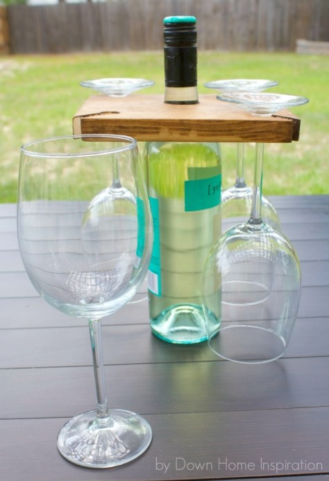 Wine Bottle and Glasses Holder