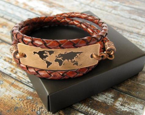 World Map Travel Bracelet