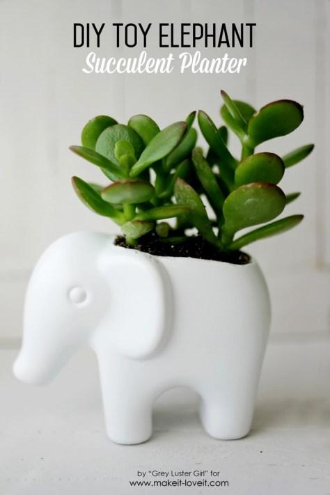 Toy Elephant Succulent Planter