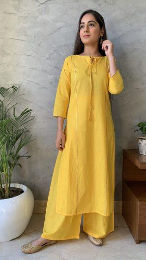 Yellow Gota Kurta