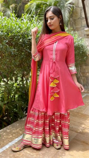 Coral Flared Suit