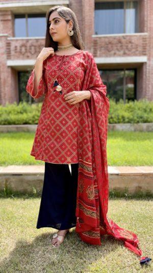 Red Pakistani Suit