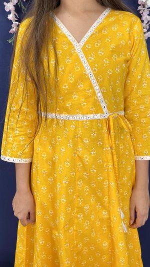 Yellow Angrakha Set