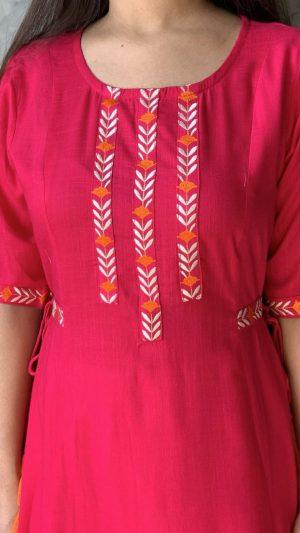Pink Long Kurta