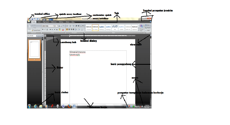 Fungsi Menu Dan Ikon Pada Microsoft Office Word