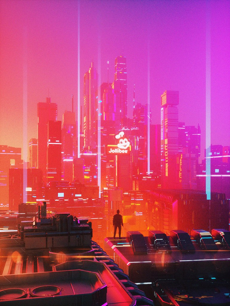 Abel Acer Polygonatic creates digital paintings of a futuristic Manila