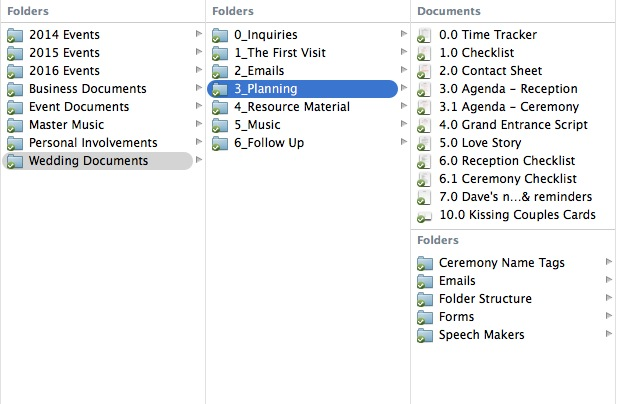 8_Wedding and Planning Folder Structure