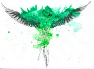 Parrot Ink With Splatter