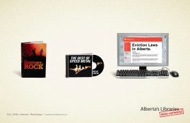 Alberta Library Heavy Metal Ad