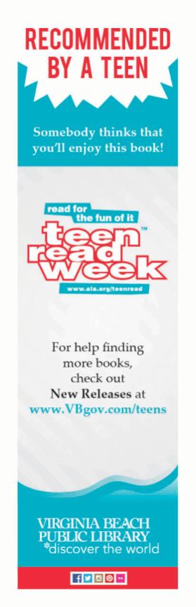 Teen Read Week Bookmark