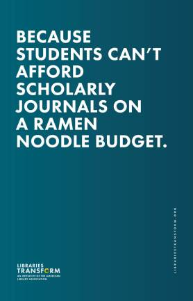 Because students can't afford scholarly journals on a ramen noodle budget.