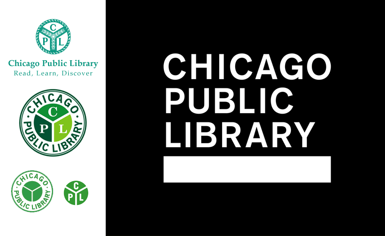Evolution of Chicago Public Library logos