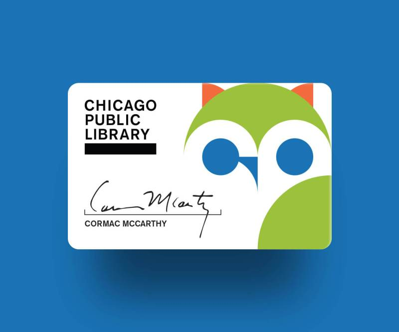 Chicago Public Library card mockup