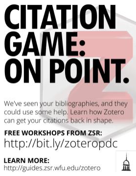 Citation Game: On Point - Zotero Poster