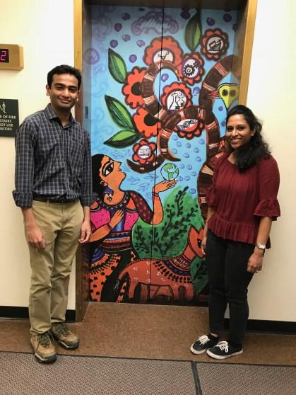 Engaging students through elevator art