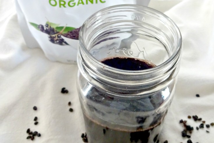 Keep your family healthy with homemade elderberry syrup. Three ingredients is all you need, elderberries, honey or any other sweeter and cinnamon. It is a powerful immune booster and the taste is kid approved.