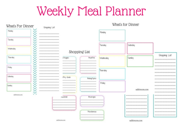 save money and time with weekly meal planning ad lib mom