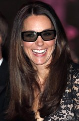 Catherine, Duchess of Cambridge wears 3D glasses