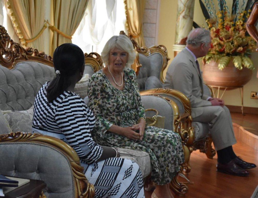 HRH Camilla with HRH Lady Julia