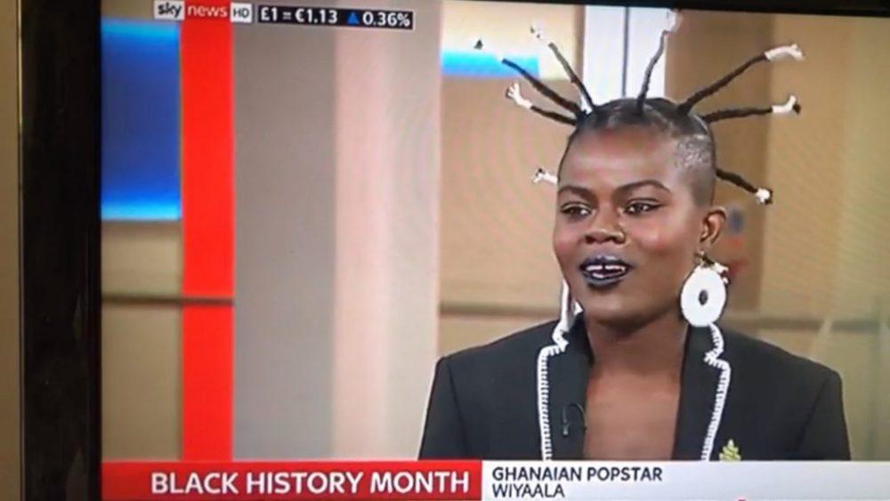 #GhanaToTheWorld: Wiyaala interviewed on UK's Sky News Live