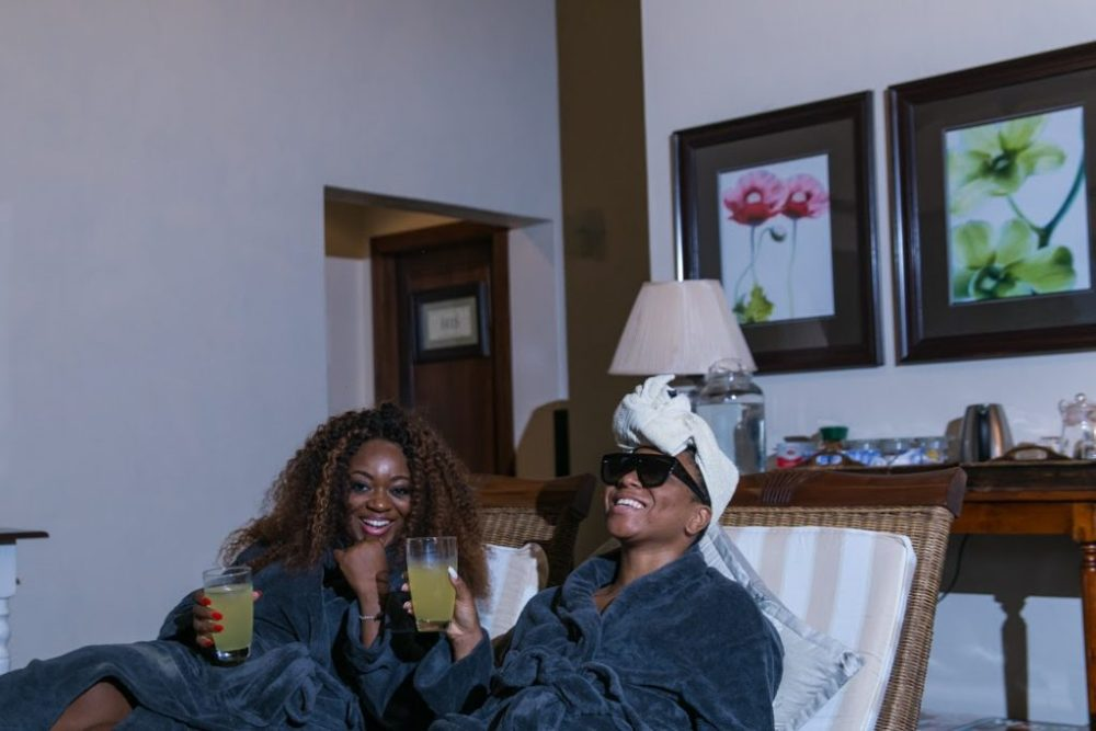 Jackie Appiah and Stephanie Coker Spa Session
