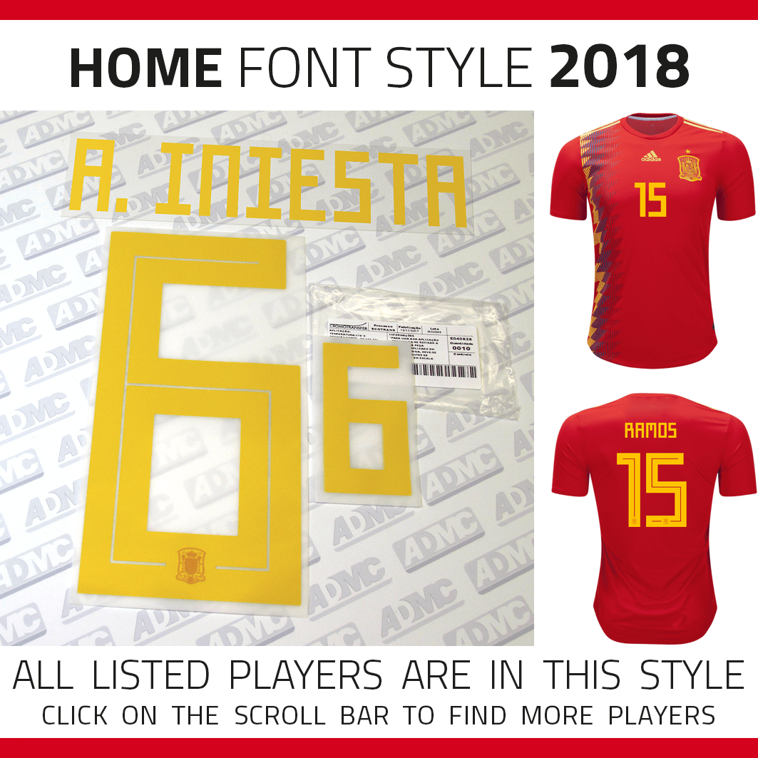 best authentic 69b41 fcada 2018 Spain Home Kits