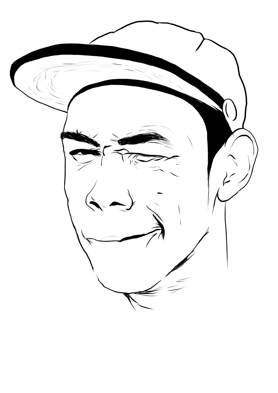 Easy Cartoon Drawings Tupac