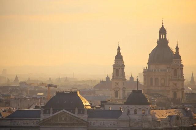 A view of St. Stephen's Basilica in Budapest, Hungary. Alexey Elfimov via Wikimedia (CC BY 3.0).