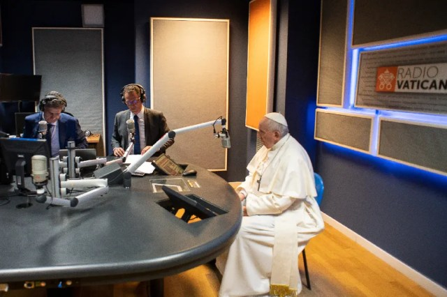 Pope Francis speaks to Vatican Radio on May 24, 2021. / Vatican Media
