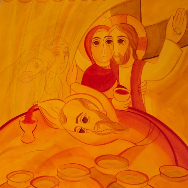 """""""This mystery is great,"""" the official image of the 2022 World Meeting of Families in Rome. / Work of Fr. Marko Ivan Rupnik, 2021."""