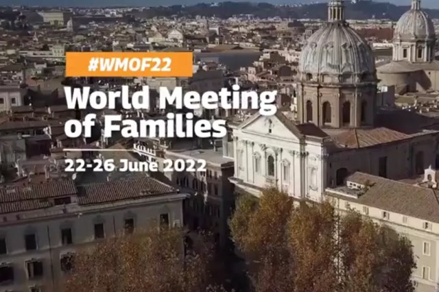 The official website of the 2022 World Meeting of Families in Rome. Screenshot from romefamily2022.com.