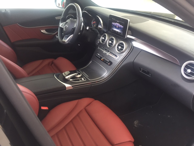 Mercedes Classe C 220 Cdi Pack Amg Cuir Rouge Voiture En