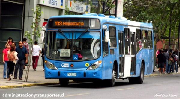 Recorrido 103 Transantiago | Providencia – San Joaquín
