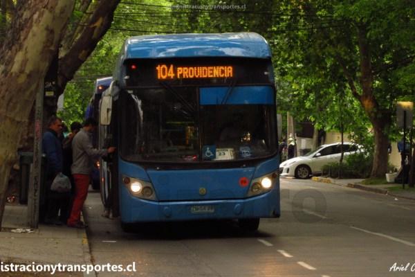 Recorrido 104 Transantiago | Providencia – Puente Alto