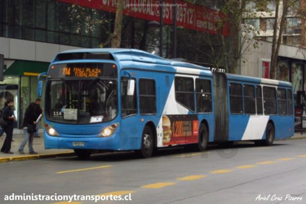 Recorrido 114 Transantiago | Providencia – Mall Plaza Tobalaba