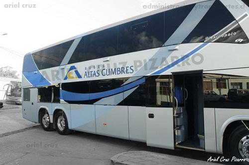 EV: Buses Altas Cumbres en viaje Talca – Santiago, Marcopolo Paradiso 1800 DD