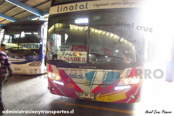 EV: Linatal en viaje Santiago – Talca, Busscar Panorâmico DD Elegance