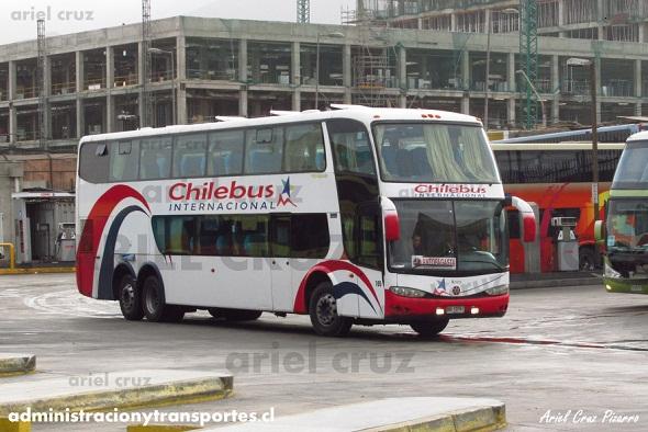 EV: Chilebus Internacional (Arica) en viaje Arica – Antofagasta, Marcopolo Paradiso 1800 DD