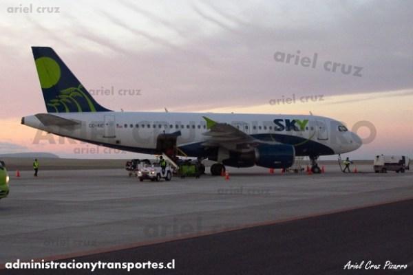 EV: Sky Airline en viaje Santiago – Copiapó, Airbus A319