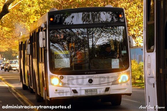 Los primeros Caio Mondego de Metbus (Transantiago)