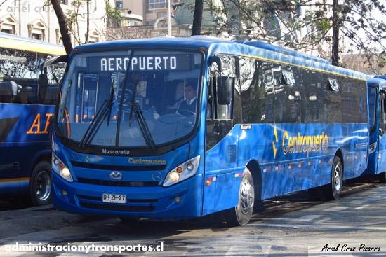 Llegada al Aeropuerto de Santiago en los buses Centropuerto