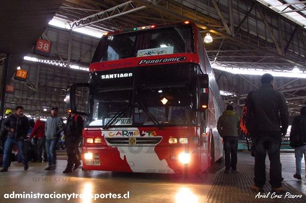 EV: Pullman Carmelita en viaje Antofagasta – Santiago, Busscar Jum Buss 400 Panoramico