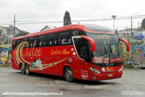 EV: Queilen Bus en viaje Castro – Ancud, Mascarello Roma 370