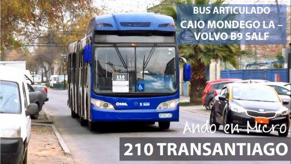 Recorrido 210 Transantiago | Estación Central – Puente Alto