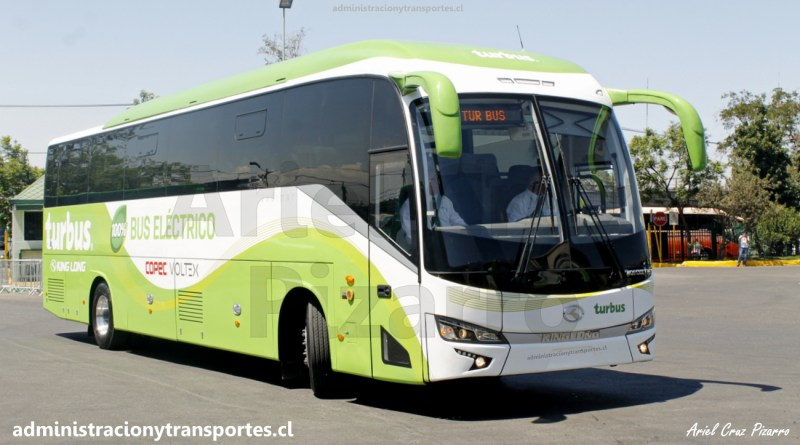 El primer bus eléctrico de Tur Bus y de Chile, King Long 6130