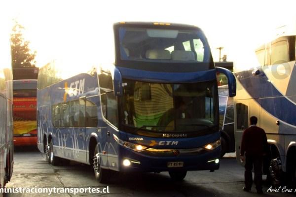 Viaje en Buses ETM 121 (Cama Premium) desde Pto Montt a Santiago